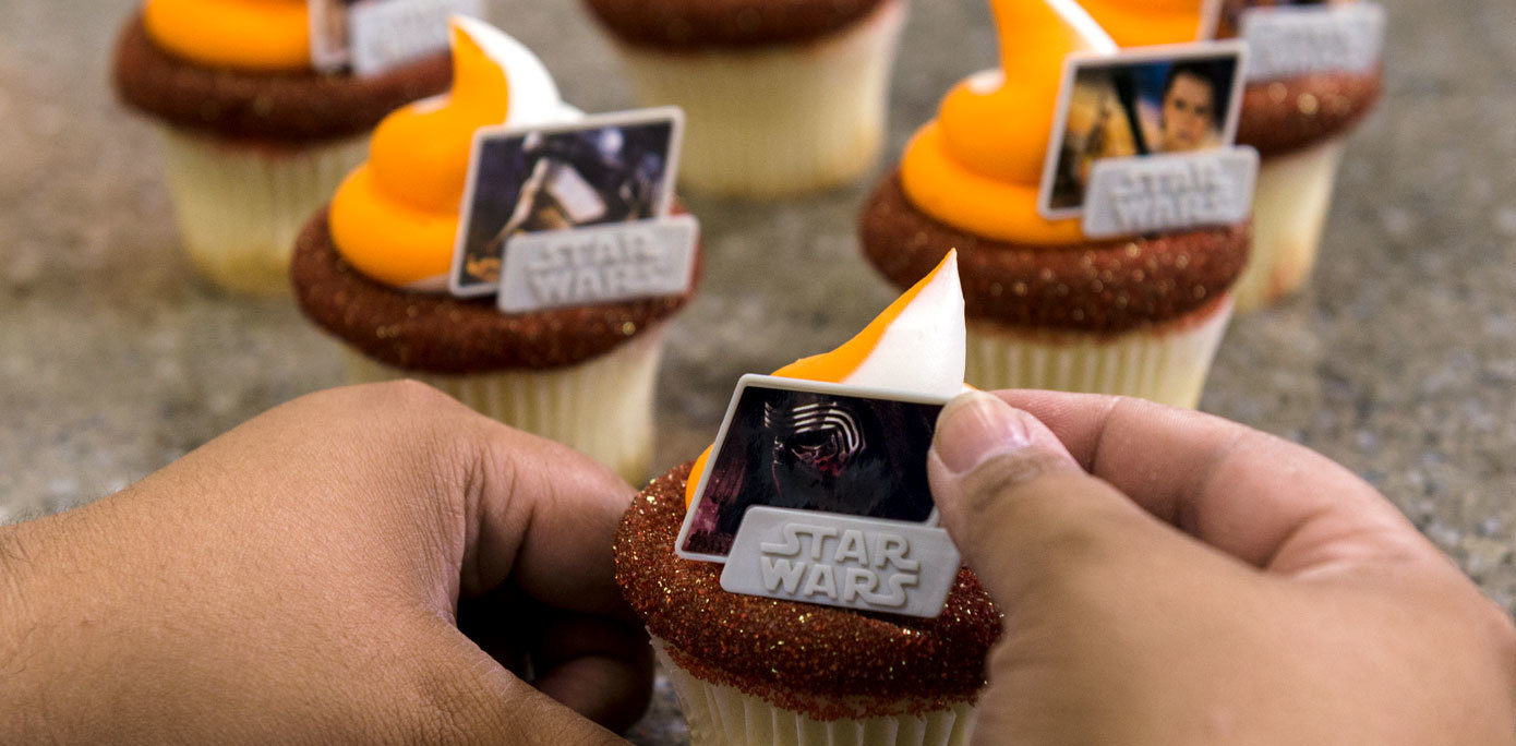 Rings on cupcakes