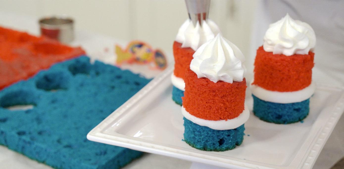 icing on mini cake