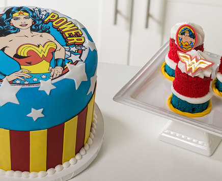 "How-To Make a Wonder Woman ""Girl Power"" Cake"