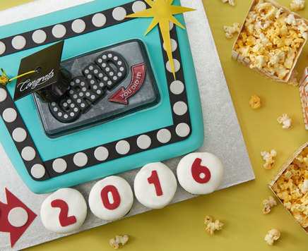 How-To Make a Marquee Graduation Cake