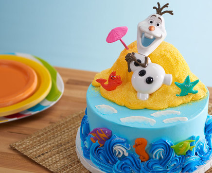 "How-To Make an Olaf ""In Summer"" Cake"