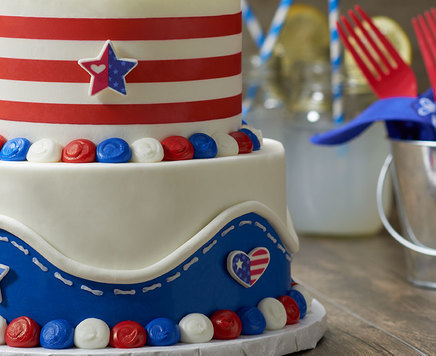 How-To Make a Red, White and Blue Country Cake