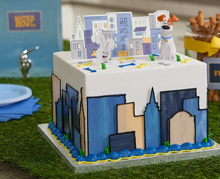 How-To Make a Secret Life of Pets Cityscape Cake