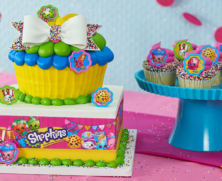 How-To Make a Shopkins Jumbo Cupcake Cake and Cupcakes