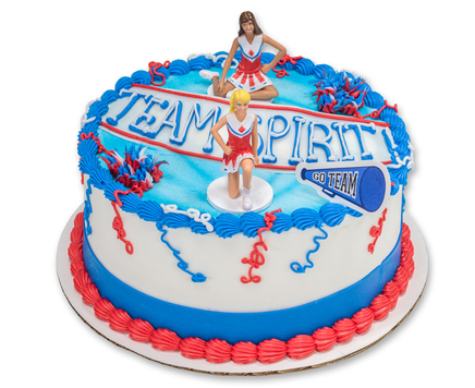 How-To Make a Cheerleading Team Spirit Cake