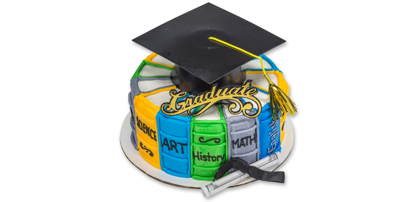 Round Graduation Cake Images : How-To Make a Stacked Books Round Graduation Cake - Cakes.com