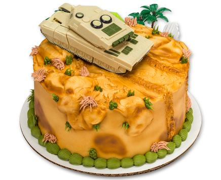How-To Make a Military Robot Tank Cake