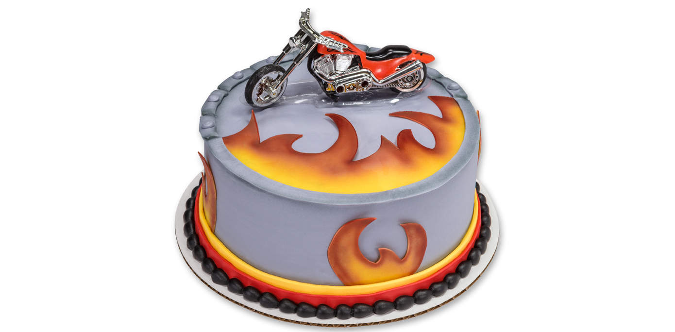 Birthday Cake Ideas Motorcycle : How-To Make a Motorcycle Birthday Cake - Cakes.com
