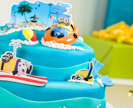 How-To Make a Despicable Me 2 Beach Party Cake