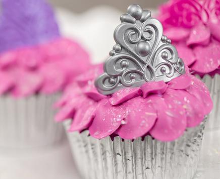How-To Make Princess Crown Birthday Cupcakes