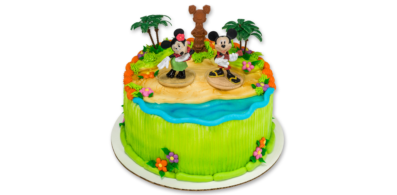 How To Make A Mickey Minnie Mouse Luau Party Cake