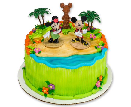 How-To Make a Mickey & Minnie Mouse Luau Party Cake
