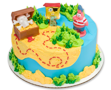 How-To Make a SpongeBob SquarePants Pirate Cake
