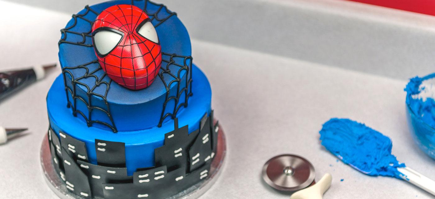 How-To Make a 2-Tier Spider-Man Cake - Cakes.com