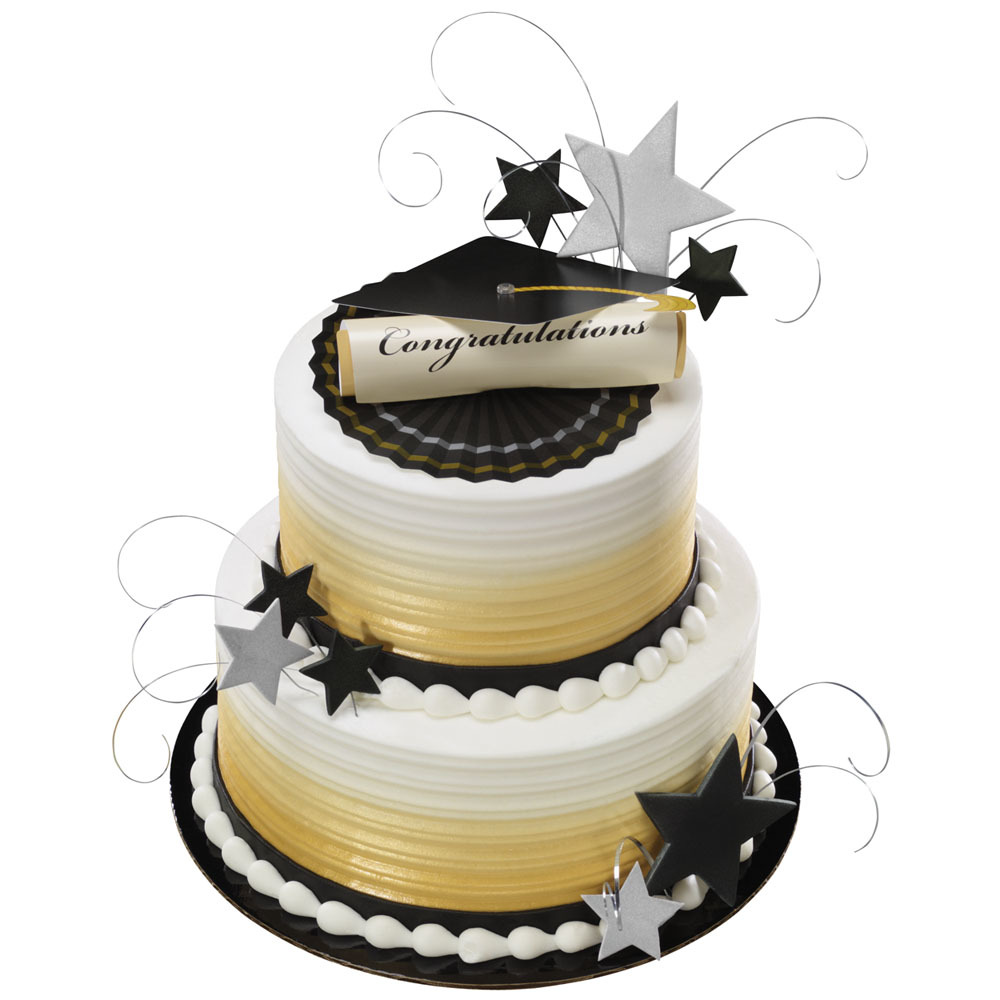 cap and diploma stacked cake decorations