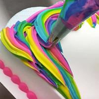 How to Create a Colorful Unicorn Mane on a Unicorn Cake