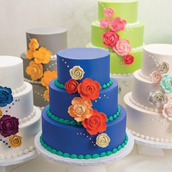 Gum Paste Rose Cake Decorations