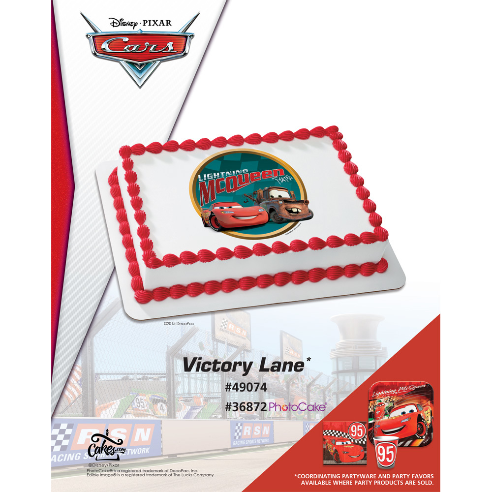 DecoPac - Cars Victory Lane Edible Image® 1/4 Sheet The Magic Of ...
