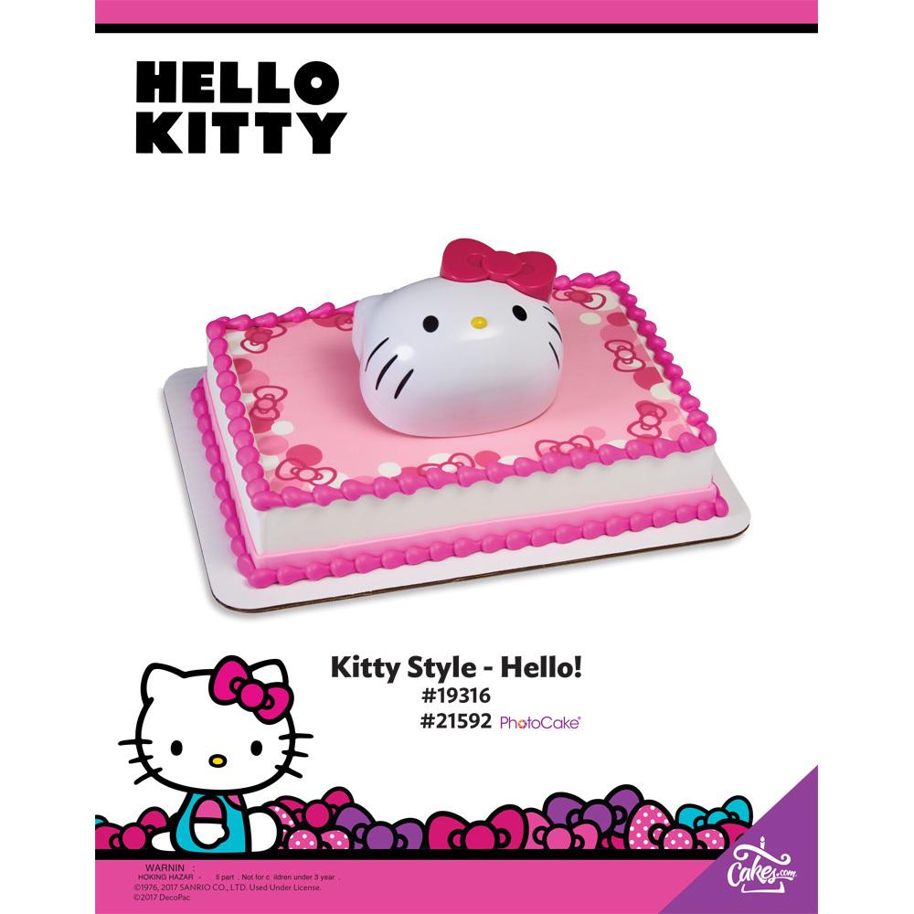 Hello Kitty Hello! PhotoCake® Background The Magic of Cakes® Page
