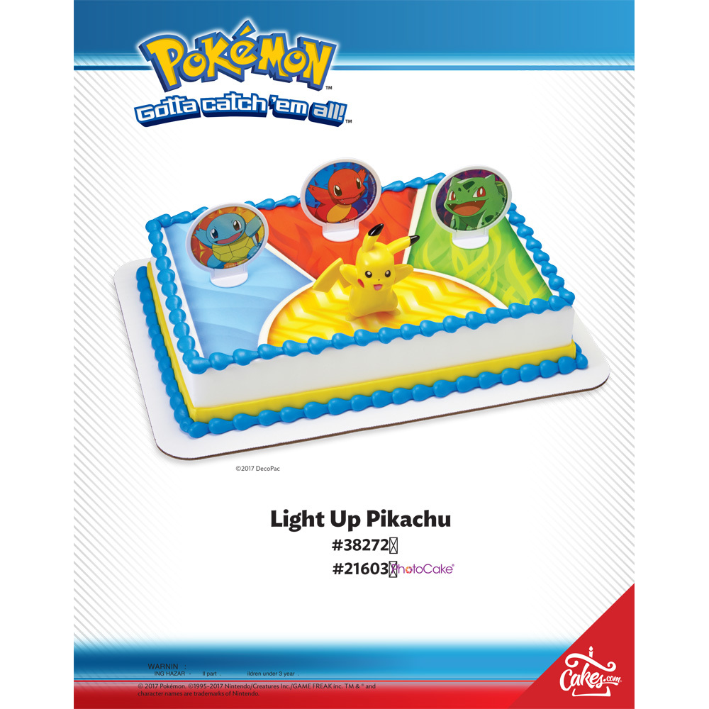 Pokemon Lightup Pikachu The Magic of Cakes® Page