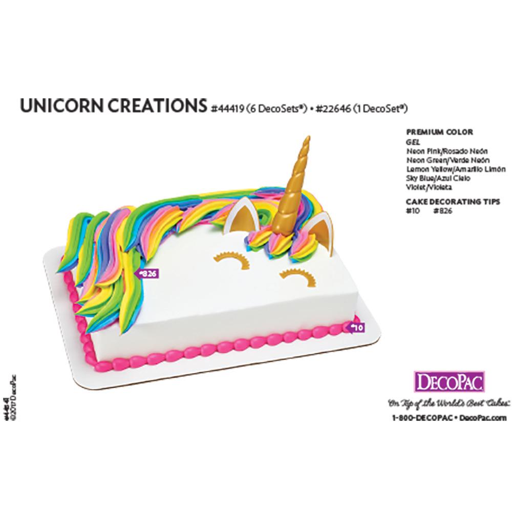 Unicorn Creations DecoSet® 1/4 Sheet Cake Decorating Instructions