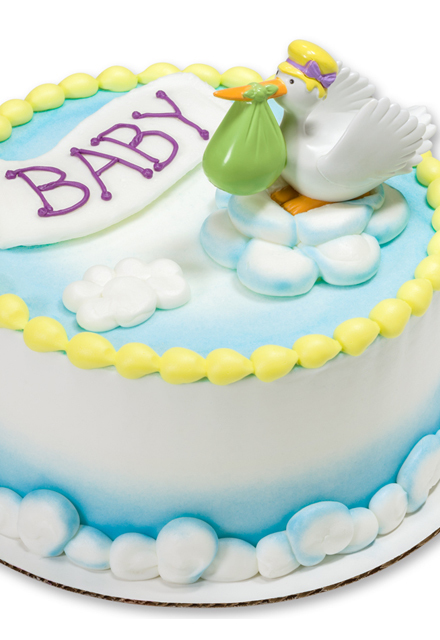 How-To Make a Special Delivery Stork Baby Shower Cake