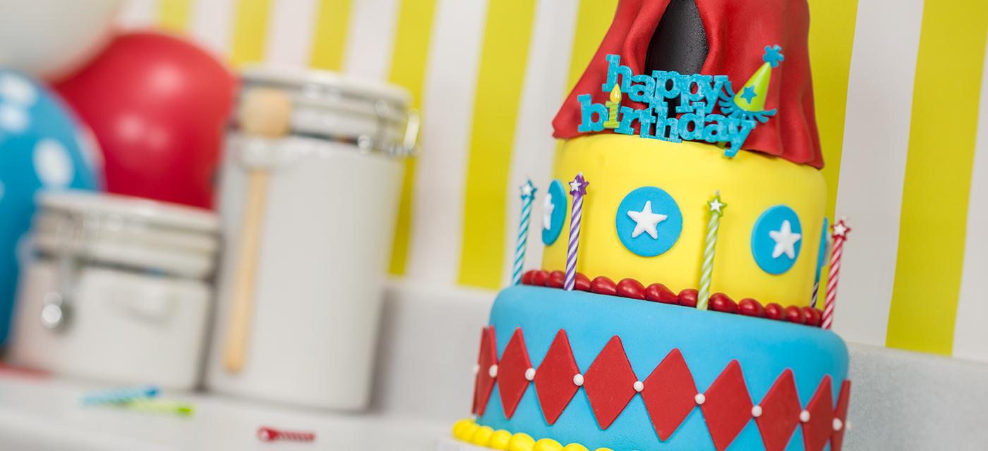 How-To Make a 3-Tier Circus Big Top Cake