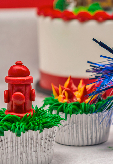 How-to Make Firefighter Fire Hydrant and Hose Cupcakes