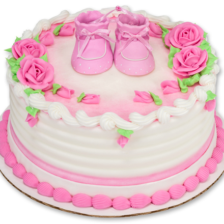 How-to Make a Pink Baby Booties Baby Shower Cake