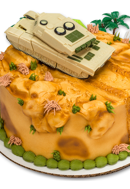 How-to Make a Military Robot Tank Cake