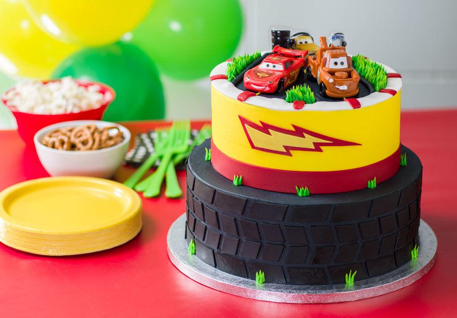 How-To Make a Cars 2 World Grand Prix 2-Tier Cake