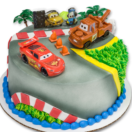 How-to: Cars 2 World Grand Prix Round Cake