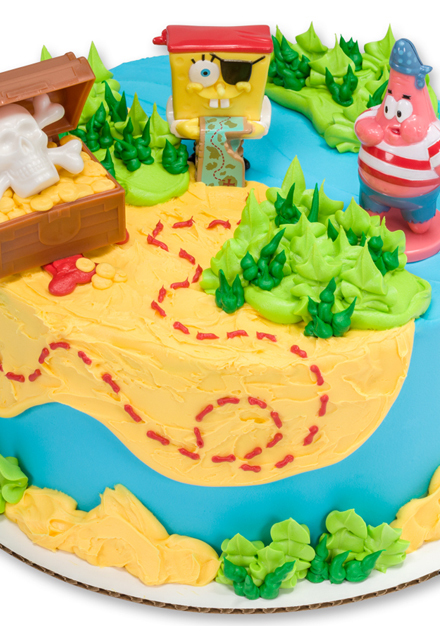 How-To Make a Sponge Bob SquarePants Pirate Cake