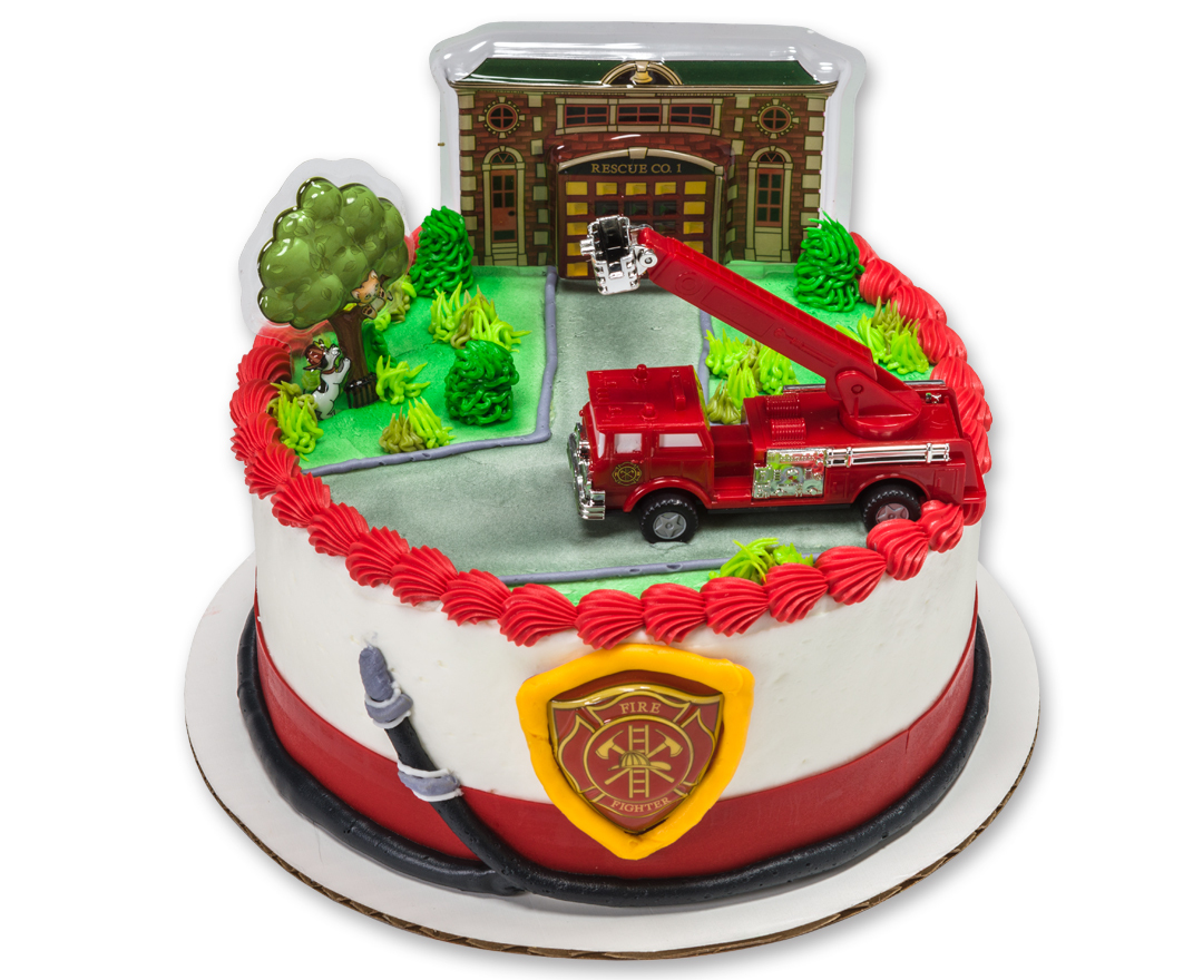 How-to Make a Fire Truck Birthday Cake