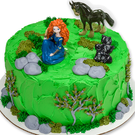 How-to Make a Brave Merida & Angus Cake