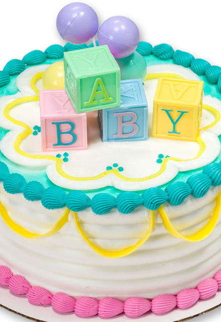 How-to Make a B-A-B-Y Blocks Baby Shower Cake