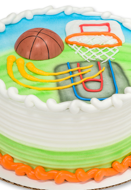 How-to Make an Outdoor Basketball-Themed Birthday Cake