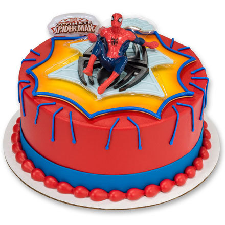 How-to Make a Web Spinner Spiderman Cake