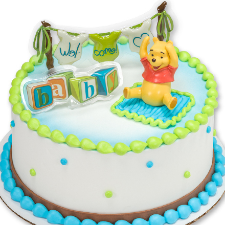 How-to Make a Winnie the Pooh Baby Shower Cake
