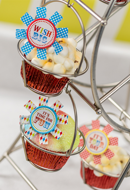 How-To Make Birthday Carnival Popcorn & Snow Cone Cupcakes