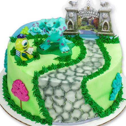 How-To Make a Monsters University Cake Featuring Mike & Sully