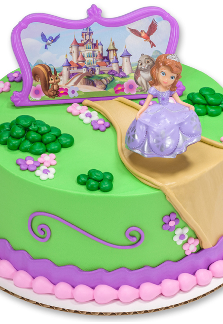 How-to Make a Princess Sofia and Her Castle Birthday Cake