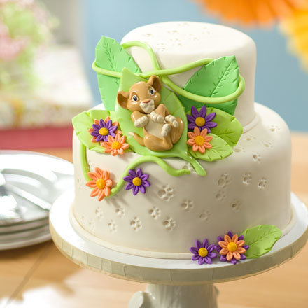 How-To Make a Lion King Baby Simba Fondant Baby Shower Cake