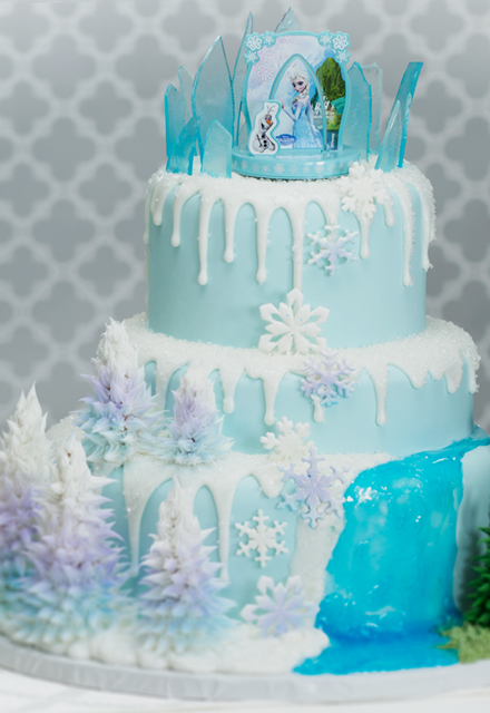 How-To Make a Three-Tier Frozen Birthday Cake