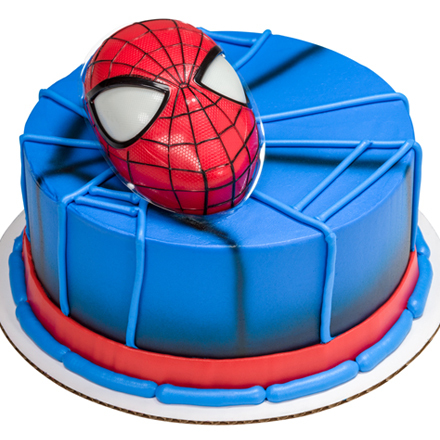 How-To Make a Spider-Man with Light Up Eyes Cake