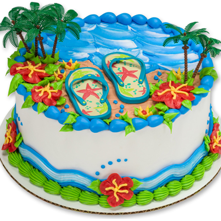 How-To Make an Easy Summer Beach or Luau Party Cake