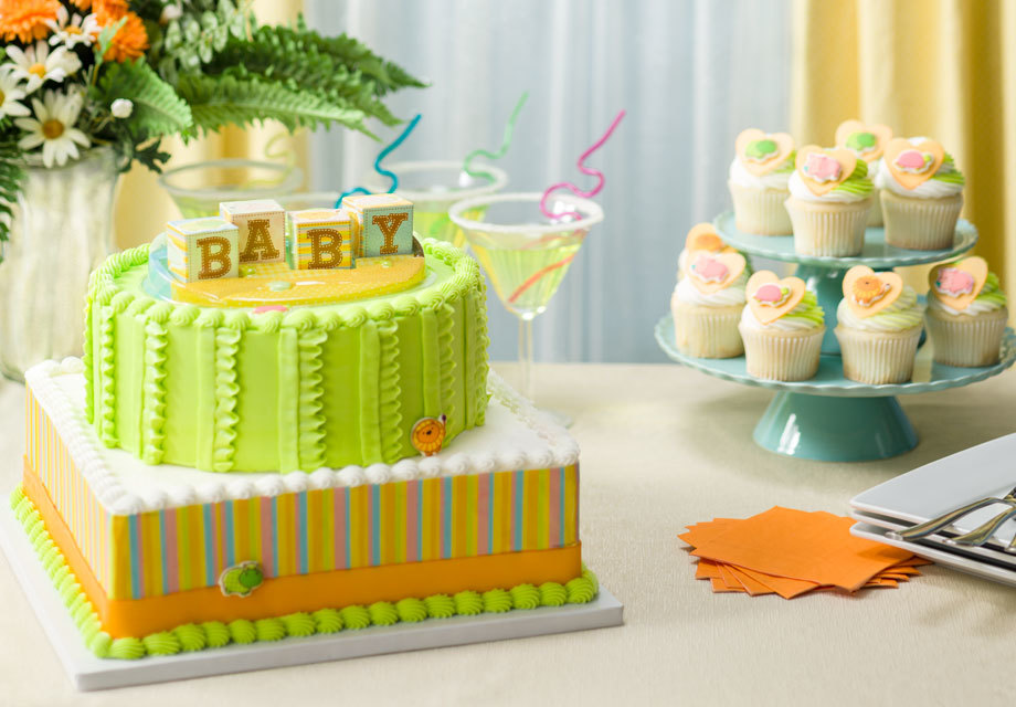 How-To Make a 2-Tier Safari Baby Blocks Shower Cake