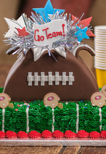 How-To Make an NFL Football Explosion Cake