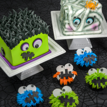 How-To Make Monster Family Cake & Cupcakes