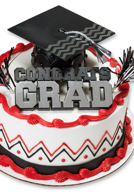 How-To Make a Graduation Congrats Grad & Cap Chevron Cake